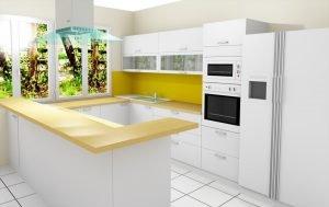 fényes beépített konyha látványterv - abutorasztalos.hu
