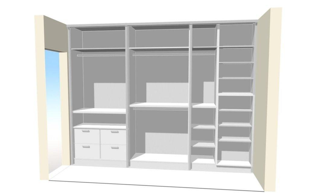 beépített szekrény belső kialakítás - abutorasztalos.hu