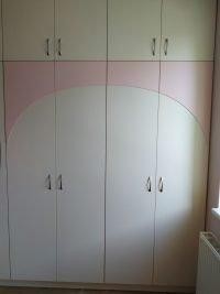 beige bútorlap bútor rózsaszín rátéttel- abutorasztalos.hu